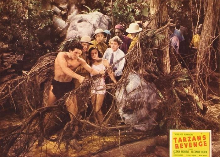 George Barbier, Eleanor Holm, Hedda Hopper, George Meeker, and Glenn Morris in Tarzan's Revenge (1938)