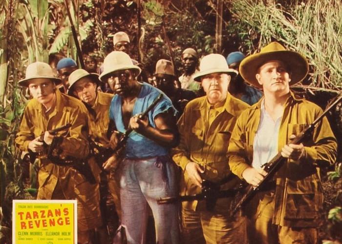 George Barbier, John Lester Johnson, George Meeker, and Joe Sawyer in Tarzan's Revenge (1938)