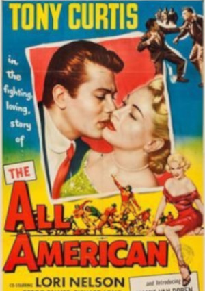 Tony Curtis and Lori Nelson in The All American (1953)