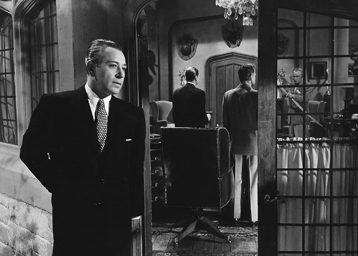 George Macready and George Raft in Johnny Allegro (1949)
