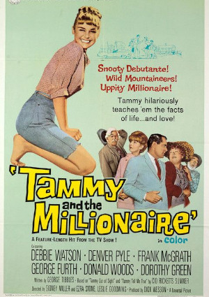 George Furth, Frank McGrath, Denver Pyle, and Debbie Watson in Tammy and the Millionaire (1967)