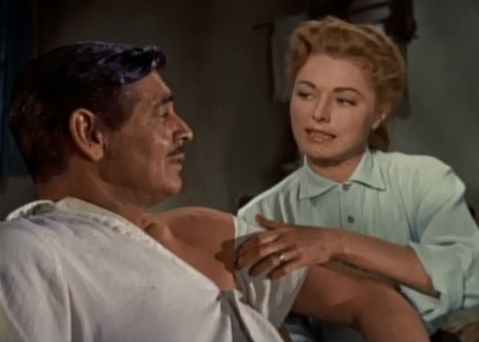 Clark Gable and Eleanor Parker in The King and Four Queens (1956)