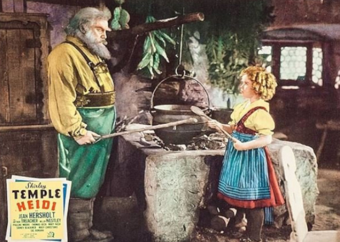 Shirley Temple and Jean Hersholt in Heidi (1937)