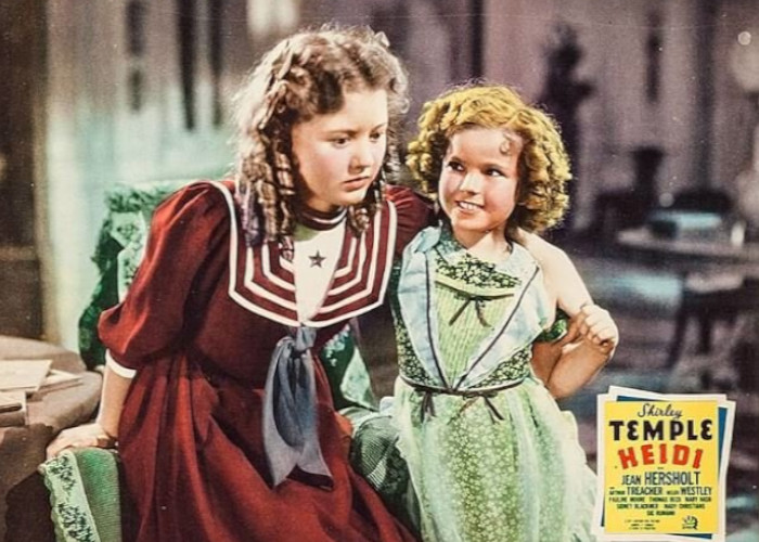 Shirley Temple and Marcia Mae Jones in Heidi (1937)