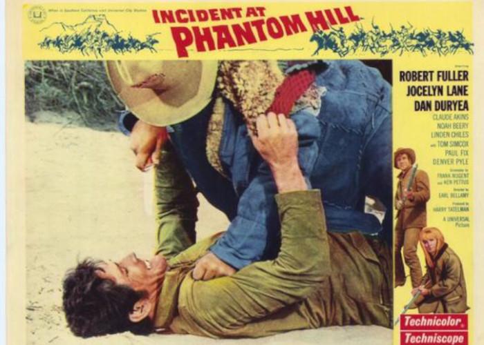 Dan Duryea, Robert Fuller, and Jocelyn Lane in Incident at Phantom Hill (1966)