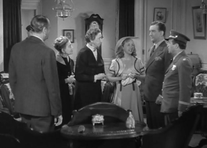 Louise Carter, William Gould, Bonita Granville, Vera Lewis, John Litel, and Frank Orth in Nancy Drew and the Hidden Staircase (1939)