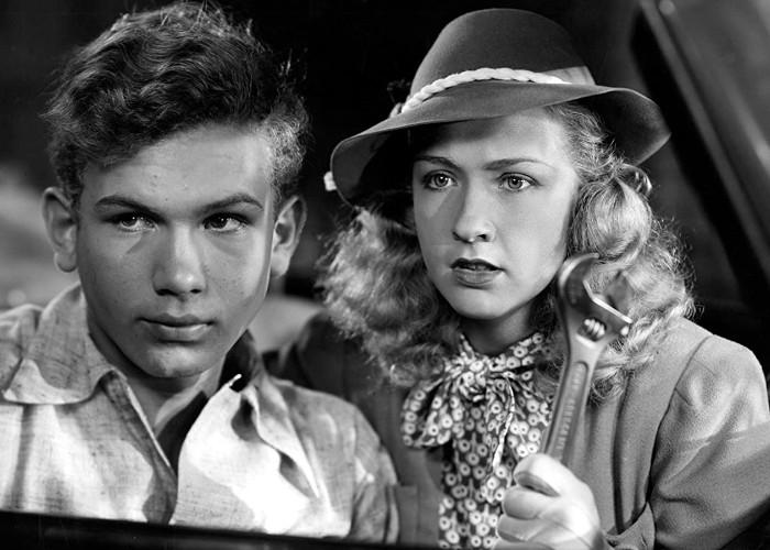 Bonita Granville and Frankie Thomas in Nancy Drew: Detective (1938)