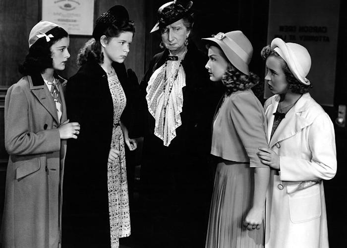 Betty Jane Graham, Bonita Granville, Vera Lewis, and Joanne Tree in Nancy Drew: Detective (1938)