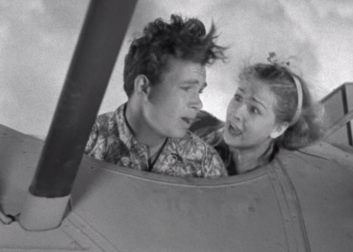 Bonita Granville and Frankie Thomas in Nancy Drew... Trouble Shooter (1939)