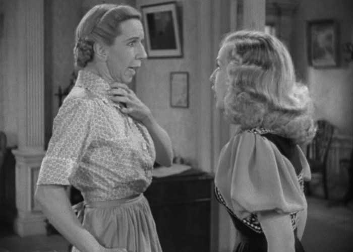 Bonita Granville and Renie Riano in Nancy Drew... Trouble Shooter (1939)