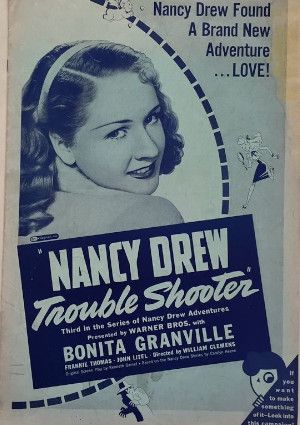 Bonita Granville in Nancy Drew... Trouble Shooter (1939)