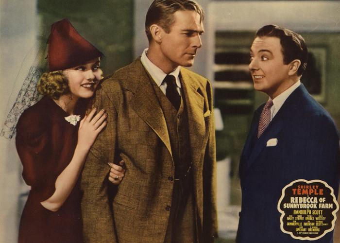 Randolph Scott, Phyllis Brooks, and Jack Haley in Rebecca of Sunnybrook Farm (1938)