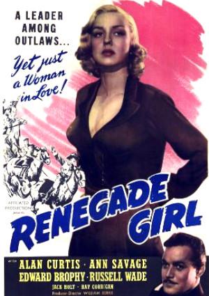 Alan Curtis and Ann Savage in Renegade Girl (1946)