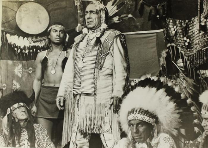 Iron Eyes Cody and J. Carrol Naish in Sitting Bull (1954)