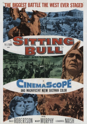 Mary Murphy, J. Carrol Naish, and Dale Robertson in Sitting Bull (1954)
