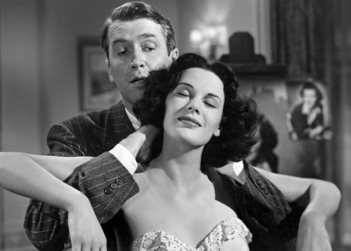 James Stewart and Patricia Medina in The Jackpot (1950)