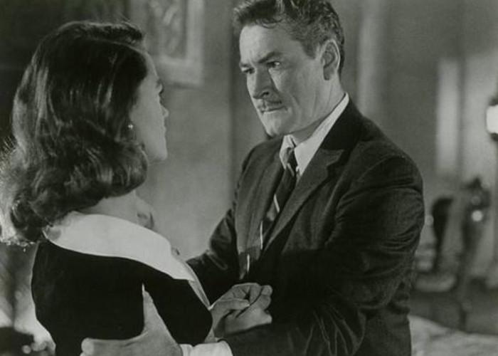 Errol Flynn and Dorothy Malone in Too Much, Too Soon (1958)