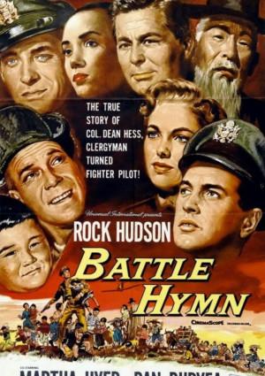 Rock Hudson, Dan Duryea, Philip Ahn, Don DeFore, Martha Hyer, Anna Kashfi, Jock Mahoney, and Jung' Kyoo Pyo in Battle Hymn (1957)