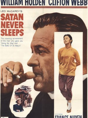 William Holden, France Nuyen, and Clifton Webb in Satan Never Sleeps (1962)