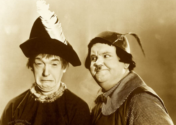 Oliver Hardy and Stan Laurel in Babes in Toyland (1934)