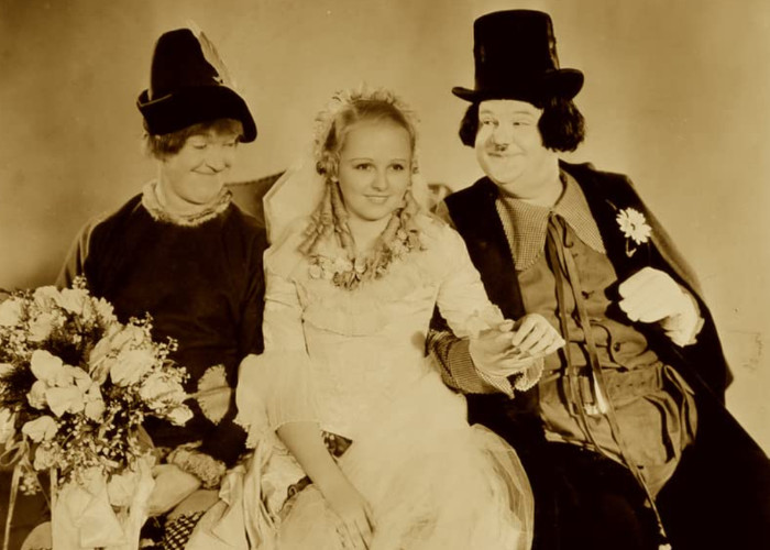 Oliver Hardy, Charlotte Henry, and Stan Laurel in Babes in Toyland (1934)