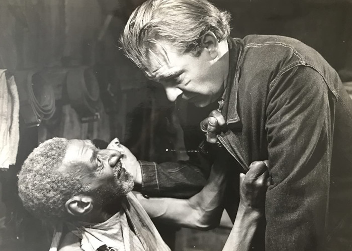 Lon Chaney Jr. and Leigh Whipper in Of Mice and Men (1939)