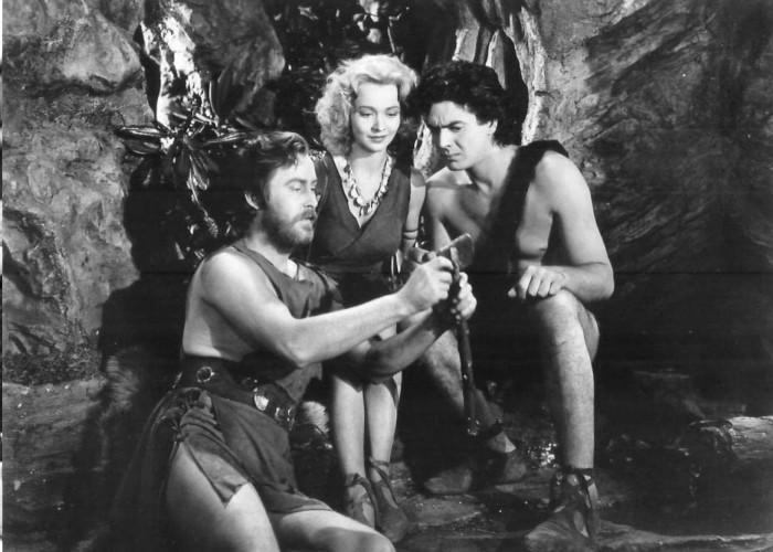 Victor Mature, John Hubbard, and Carole Landis in One Million B.C. (1940)
