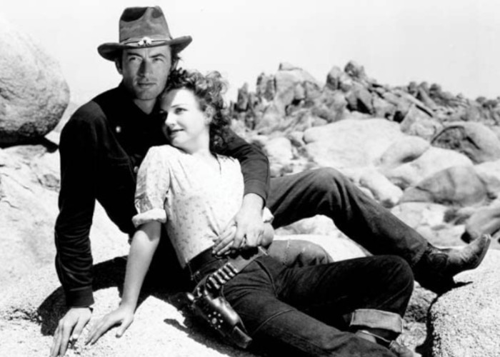 Gregory Peck and Anne Baxter in Yellow Sky (1948)