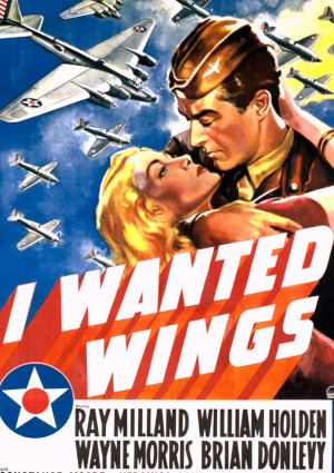 Veronica Lake and Ray Milland in I Wanted Wings (1941)