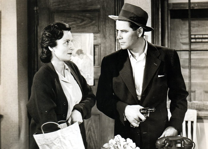 Glenn Ford and Angela Clarke in Mr. Soft Touch (1949)
