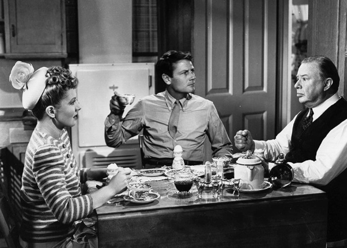 Jean Arthur, Charles Coburn, and Joel McCrea in The More the Merrier (1943)