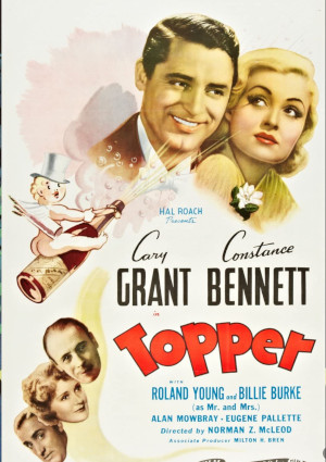Cary Grant, Constance Bennett, Billie Burke, Alan Mowbray, and Roland Young in Topper (1937)
