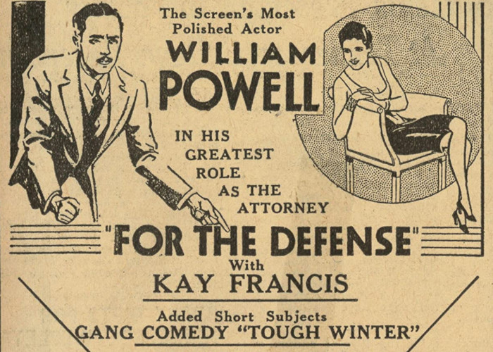 William Powell and Kay Francis in For the Defense (1930)