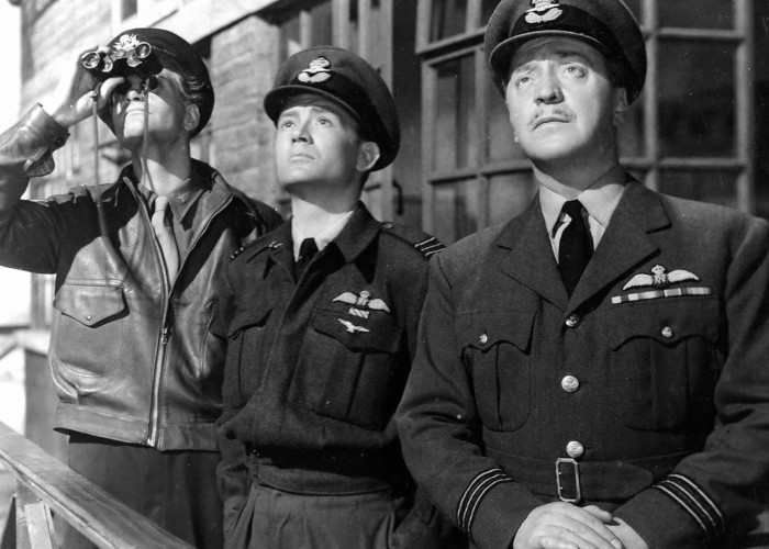 John Mills and Basil Radford in The Way to the Stars (1945)