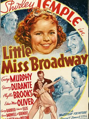 Shirley Temple, Jimmy Durante, Phyllis Brooks, George Murphy, and Edna May Oliver in Little Miss Broadway (1938)