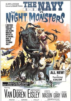 Anthony Eisley and Mamie Van Doren in The Navy vs. the Night Monsters (1966)