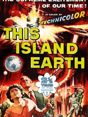 Faith Domergue, Jeff Morrow, and Rex Reason in This Island Earth (1955)