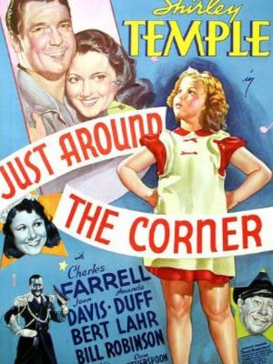 Shirley Temple, Joan Davis, Amanda Duff, Charles Farrell, Bert Lahr, and Bill Robinson in Just Around the Corner (1938)