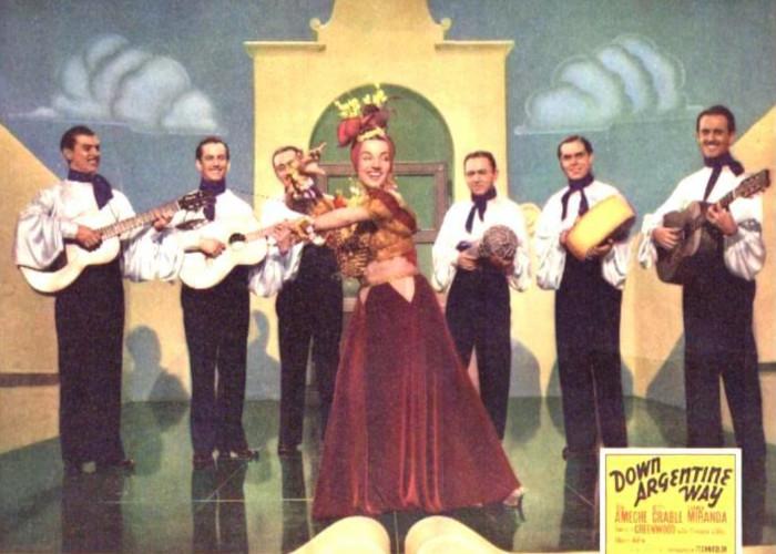 Carmen Miranda and Bando da Lua in Down Argentine Way (1940)