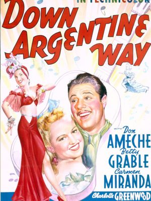Carmen Miranda, Don Ameche, and Betty Grable in Down Argentine Way (1940)