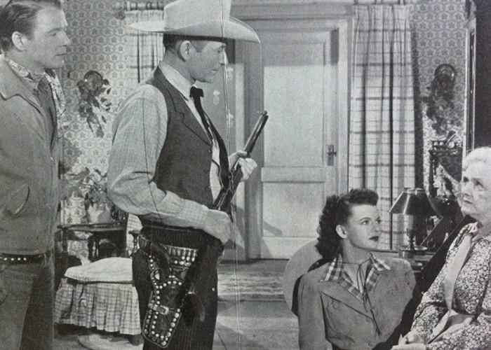 Roy Rogers, Dale Evans, Montie Montana, and Elisabeth Risdon in Down Dakota Way (1949)