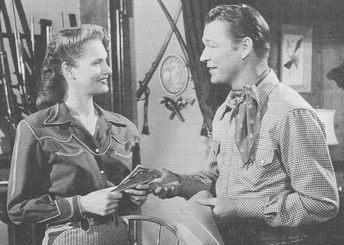 Roy Rogers and Stephanie Bachelor in Springtime in the Sierras (1947)