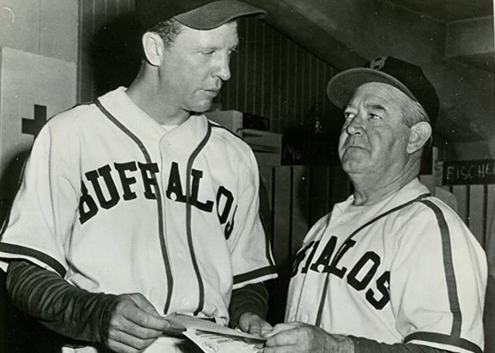 Dan Dailey and Dizzy Dean in The Pride of St. Louis (1952)