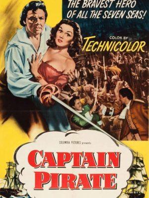 Louis Hayward and Patricia Medina in Captain Pirate (1952)