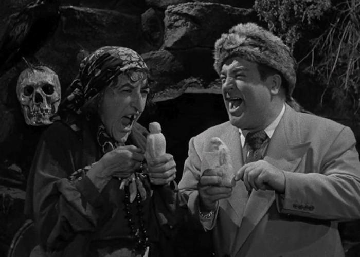 Margaret Hamilton and Lou Costello in Comin' Round the Mountain (1951)