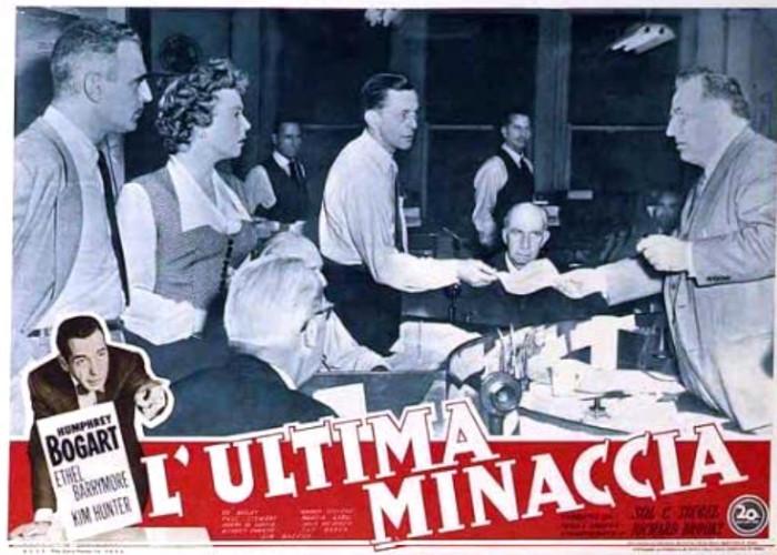 Humphrey Bogart, Ed Begley, Audrey Christie, and Paul Stewart in Deadline - U.S.A. (1952)