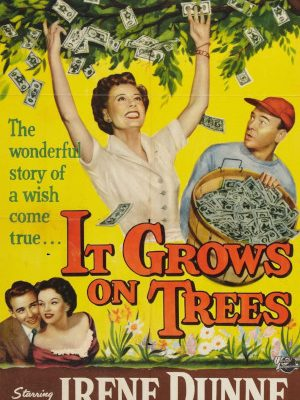 Richard Crenna, Irene Dunne, Joan Evans, and Dean Jagger in It Grows on Trees (1952)