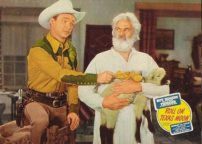 Roy Rogers and George 'Gabby' Hayes in Roll on Texas Moon (1946)