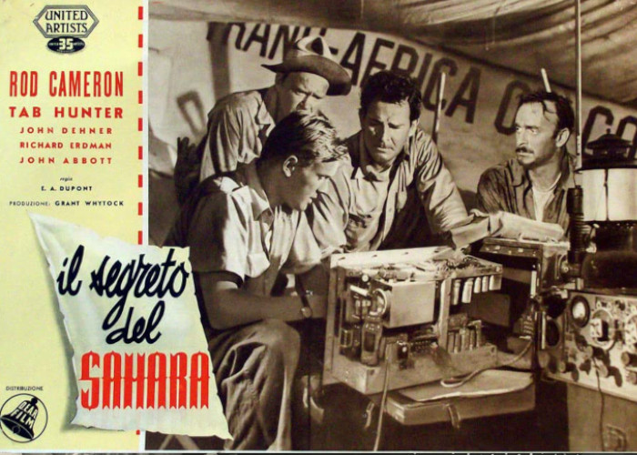Tab Hunter, Rod Cameron, John Dehner, and Richard Erdman in The Steel Lady (1953)