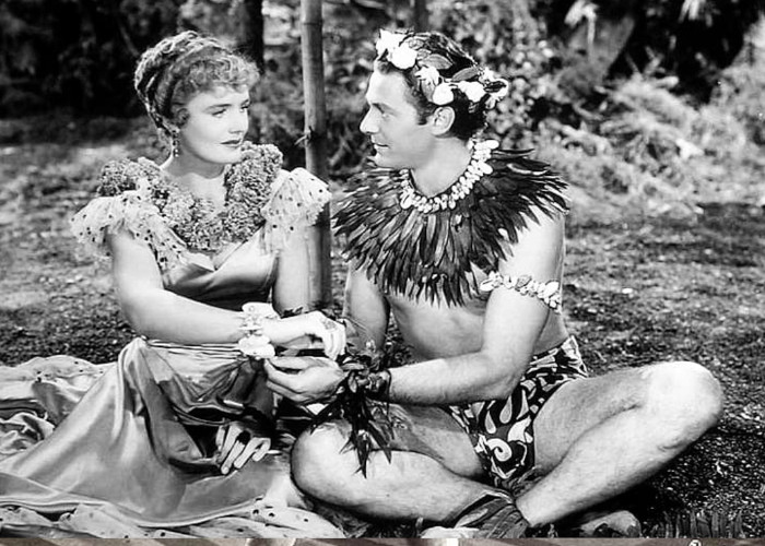 Frances Farmer and Jon Hall in South of Pago Pago (1940)